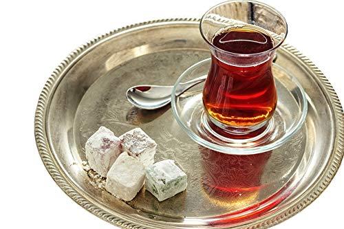 Topkapi - 18-tlg Türkisches Tee-Set Ajda-Sultan, 6 Teegläser, 6 Untersetzer, 6 Teelöffel, Komplett-Set Garten Tee-set