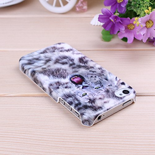 iPhone Case Cover IPhone 4S de couverture de cas, Leopard Couleur Patter dur Housse pour iPhone 4S ( Color : D ) B