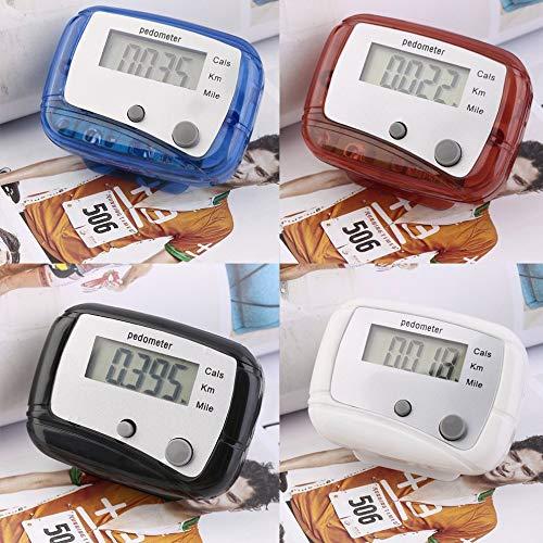 laonBonnie Leichter Design-Gürtelclip für einfache Bedienung Mini-Digital-LCD-Laufschrittzähler Schrittzähler ABS bis zu 99999 Stufen - Mehrfarbig