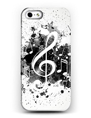iCreat SUPER CASE iphone cover Gemaltes iphone Hülle Gehäuse Hartschale harte Rückseite für Apple IPHONE 4 4G 4S schönes Design mit Musik Note Schwarz - Virgin Handy Mobile Iphone