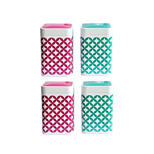 Eigenart Hippe Tee-Dose. Aufbewahrungs-Box für die Küche May Lin (4 x100 Gramm) in pink und...