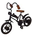Vintage Handmade Black Decorative Miniature Of Metal Bicycle Showpiece