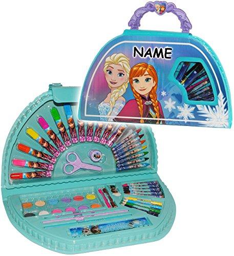 51 tlg. Set __ großer Stifte-Koffer - ' Disney Frozen - die Eiskönigin ' - incl. Name - Malkoffer...