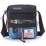 JAKAGO Wasserdichte Schultertasche Umhängetasche Umhängetasche für Handy/iPad / Tablet bis zu 25,4 cm (10 Zoll) für Sport Reisen Outdoor Camping Wandern M hellblau