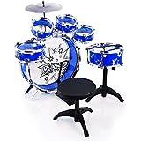 Kinder Baby Spielzeug NEU Schlagzeug KP9242 Blau Trommel Musikinstrument Stuhl
