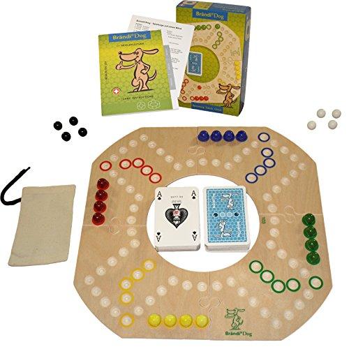 Preisvergleich Produktbild Original Brändi Dog für 2-4 Spieler, Brettspiel aus Holz --Neu-- , Brandi Dog by Unbekannt