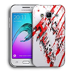 Snoogg Love Hurts Designer Protective Back Case Cover For SAMSUNG GALAXY J2