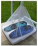 Bushcamp Moskitonetz mit Reißverschluß, Bodengummizug und Innentasche für Zuhause und Reise