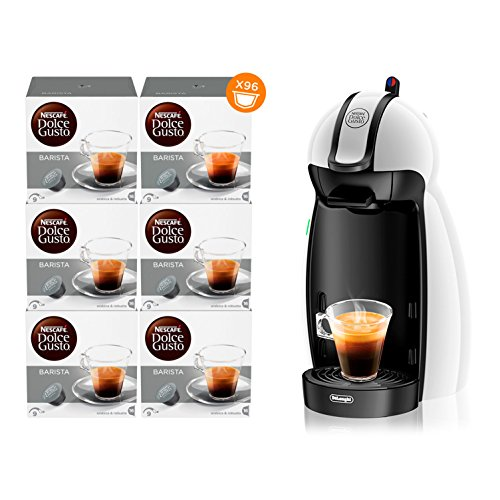 Nescafé dolce gusto piccolo edg100.w macchina per caffè espresso e altre bevande manuale white + nescafÉ dolce gusto barista caffè espresso 6 confezioni da 16 capsule (96 capsule)