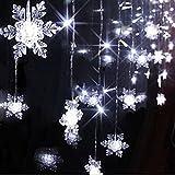 Goodid Guirnaldas de luces led 3.5M 96 LEDs para decorar terraza, fiestas, jardín, hogar Navidad(Nieve Blanco)