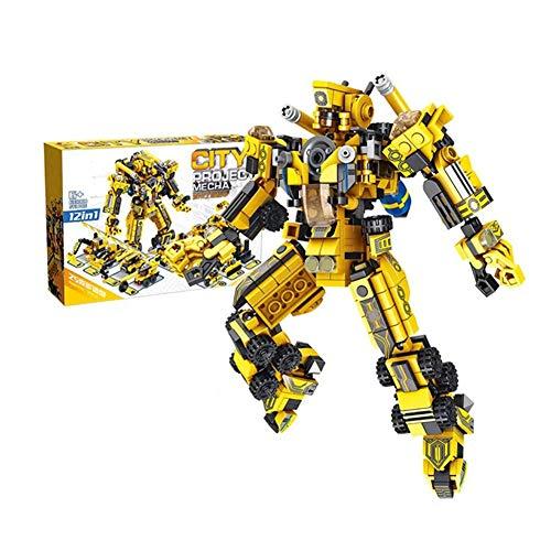 Yyz Technologie Serie Engineering Mech 12-in-1-Roboter Kleine Partikel Kinder Puzzle Einsätze montiert Baustein Boy Spielzeug Geburtstagsgeschenk