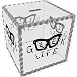 Grand 'Geek Life' tirelire transparente (MB00043822)
