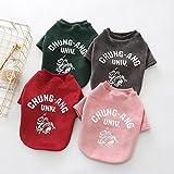 BKPH Hemd Hundekleidung Herbst Pudel Teddy Kleidung für Haustiere Herbst- und Winterkleidung, Rot, L