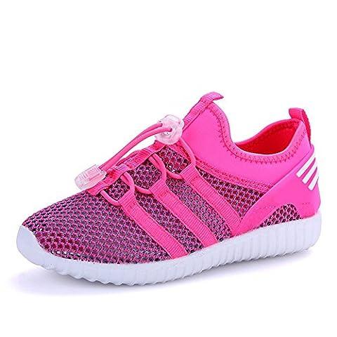 LKOUS Kinder Jungen Mädchen schnüren sich oben Turnschuhe Sportkleidung beiläufige Spinning-Turnschuh Paare Schuhe [6 Farben]