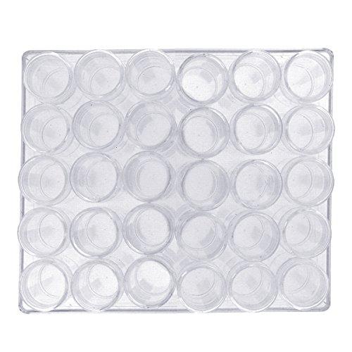 Récipients Translucides par Kurtzy - 30 Pots pour les Loisirs Créatifs et Artistiques, Très Utiles pour une Bonne Organisation et les Bijoux - Boîte Plastique Transparent avec Pots Amovibles Style Compartiments