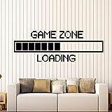 ONETOTOP Vinilo Adhesivo de Pared Zona de Juego Cargando Etiqueta de la Pared Gamer Ordenador Mural de Pared Juego Sala de Juego Decoración Juego de Carga Calcomanía 121x42cm