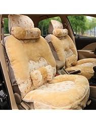 AMYMGLL Autozubehör High - End Sitzbezug warme fünf - Sitz allgemeine 10 Sätze von Plüsch Frühling und Herbst Winter 3 - Farbwahl