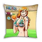 CoolChange One Piece Deko Kissenbezug 50x50cm, Motiv: Nami