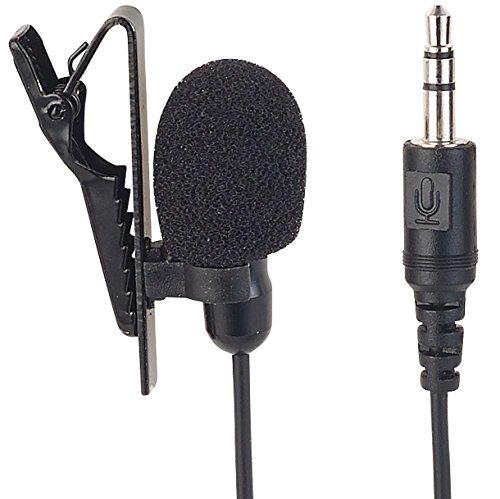 auvisio Ansteckmikrofon: Mini-Ansteck-Kondensator-Mikrofon für Smartphone, Tablet & PC (Lavalier Mikrofon)
