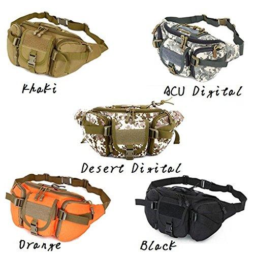 Außen Unisex Hüfttasche Taktische Militärische Hüfttasche Brusttasche Wüstentarn