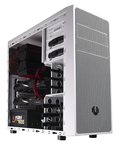 BitFenix Neos Midi-Tower Blanco carcasa de ordenador - Caja de ordenador (Midi-Tower, PC, De plástico, Acero, ATX,Micro-ATX,Mini-ATX, Blanco, Fondo)