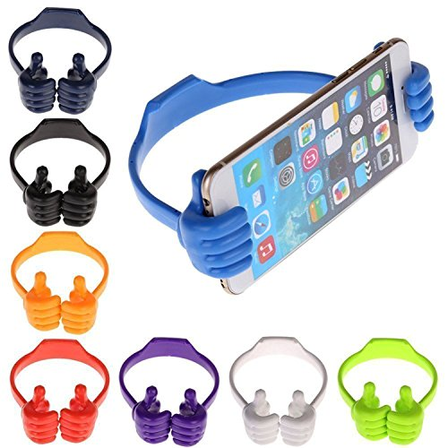 GKP Products Universal Flexible Portable Mount Cradle Ok Stand for Smartphones and Tablets iPad Air 2 for iPhone (Colors May...