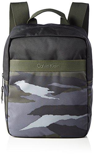 Calvin Klein JeansCOOPER CAMO MEDIUM BACKPACK - Borse a Tracolla Uomo , Verde (Grün (CARGO PRINT 313 313)), 27x47x13 cm (B x H x T)