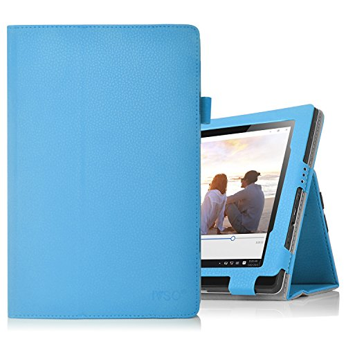 Lenovo Miix 310 hülle, IVSO hochwertiges PU Leder Etui hülle Tasche Case - mit Standfunktion,super 360° Anti-Wrestling, ist für Lenovo Miix 310 25,65 cm (10,1 Zoll HD) Tablet PC perfekt geeignet, Blau