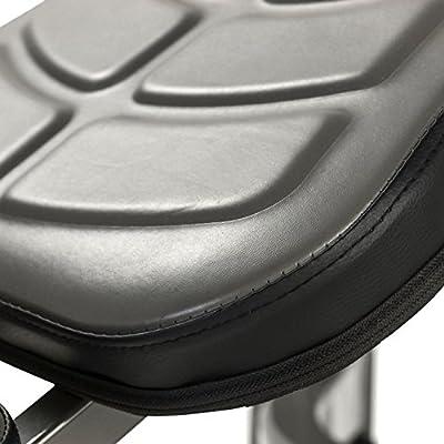 Tunturi Pure Flat Weight Bench with Folding Design - Black/Grey by Tunturi