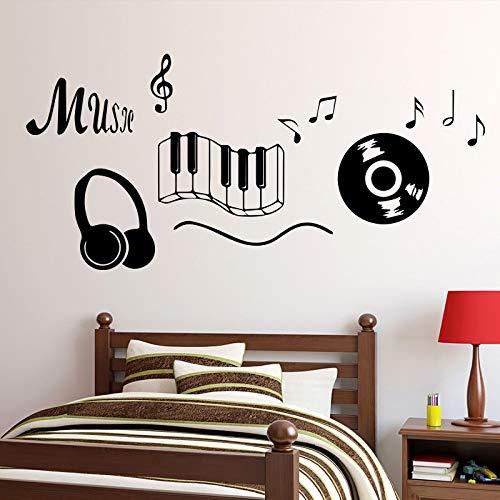 Schlagen Musik Symbol Design Wandaufkleber Für Wohnzimmer Schlafzimmer Dekor Vinyl Wandgestaltung Aufkleber Selbstklebende Wohnkultur Grün L 43 cm X 92 cm