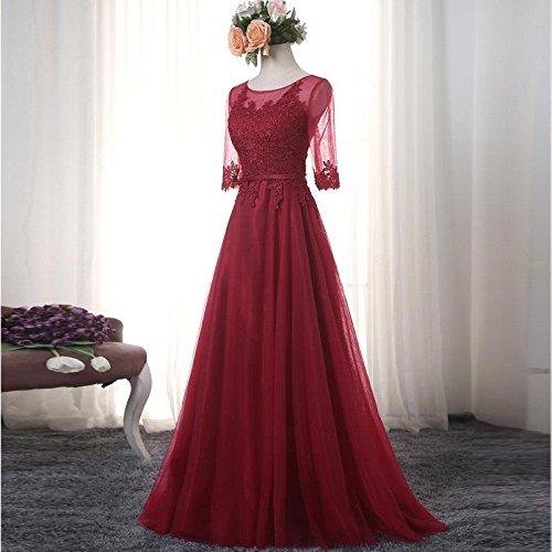 babyonline damen rosa spitze halbe rmel r ckfrei hochzeit. Black Bedroom Furniture Sets. Home Design Ideas