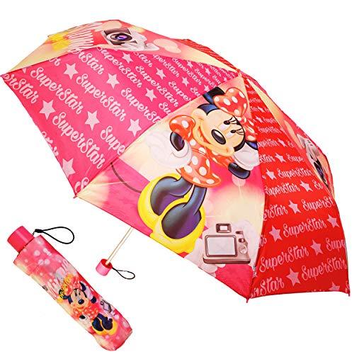 alles-meine.de GmbH Taschenschirm / Regenschirm - Kinderschirm - Disney - Minnie Mouse - ø 100 cm - faltbar - großer Kinderregenschirm - Faltregenschirm Schirm / für Mädchen Kind.. (Maus-tasche Minnie Für Erwachsene)