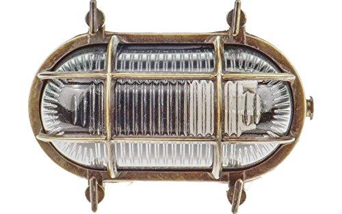 Gloria 5700 Oval Schiffslampe schiffsleuchten Gitter lampe aus massivem Messing wasserdichte Licht lampe Nautische Marine Wandlampe Industrielicht Antikes Messing Gloria-boot