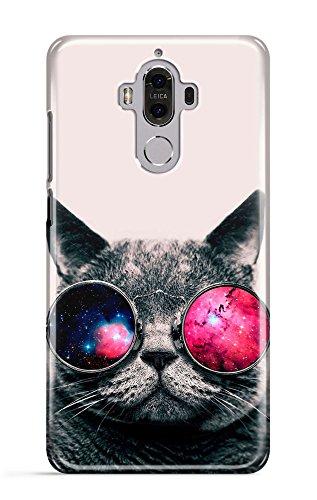 Loomiloo Cover Sonnenbrille Galaxis Universum Katze cat Handy Hülle Case 3D-Druck Top-Qualität kratzfest huawei mate 9