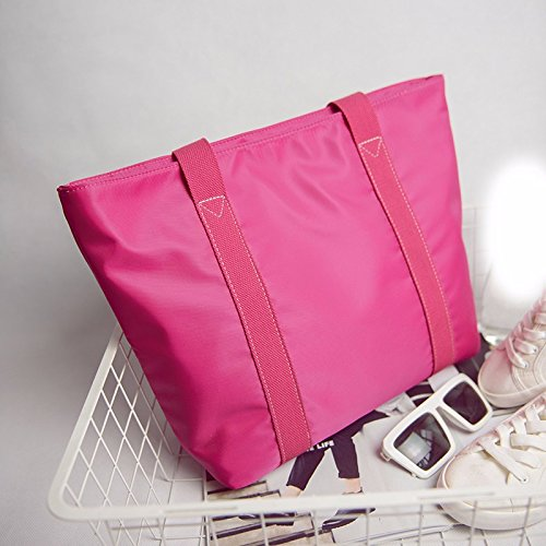 GUMO-Borsa da spiaggia, borsa di tela, impermeabile, nylon borsa a tracolla, oxford tessuto, semplice, casual, borsetta,nero Pink