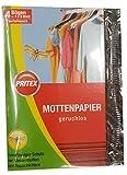 PRITEX MOTTENPAPIER geruchlos Mottenschutz 4 Stück · gegen Kleidermotten, Motten