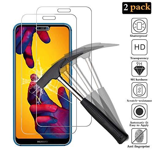 ANEWSIR [2 Stück Kompatibel mit Panzerglas Schutzfolie für Huawei P20 Lite, Gehärtetes Glas Displayschutzfolie mit 9H Härte, Anti-Kratzen, Anti-Öl, Anti-Bläschen, Folie Für Huawei P20 Lite. (Glas Hart)