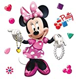 AG Design Disney Minnie Maus Kinderzimmer Wand Sticker, PVC-Folie (Phtalate-Free), Mehrfarbig, 30 x 30 cm