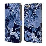 Head Case Designs Offizielle PLdesign Blau Vintage Blumig Brieftasche Handyhülle aus Leder für iPhone 6 Plus/iPhone 6s Plus