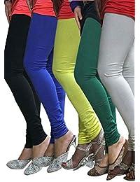 Pack of 5 Cotton Lycra Leggings Combo