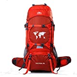 Topsky, zaino impermeabile da escursionismo, 70 litri , 75 litri, capiente zaino da trekking, Uomo, 30924, Orange, 75*30*30cm