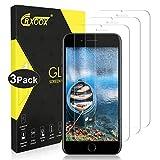 CRXOOX [3 Unidades Cristal Templado Protector de Pantalla para iPhone 7 Plus/ 8 Plus, Alta Sensibilidad, Sin Burbujas,9H Dureza Cristal Vidrio Templado