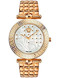 Versace Women's VK7240015 Vanitas Analog Display Swiss Quartz Gold Watch