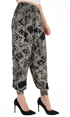 WearAll - Grande taille uni pantalons harem pants - Pantalons - Femmes - Tailles 40 à 54 Tiedye Square