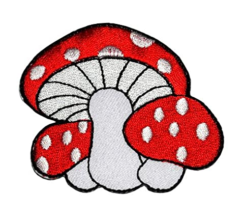 MR-02 Mushroom Applique Embroidered Sew Iron on Patch