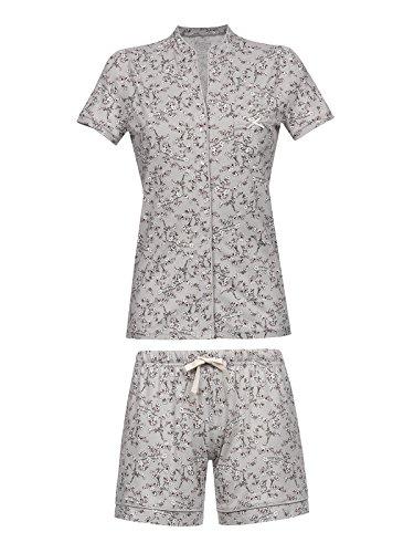 Vive Maria Cherry Blossom Kurz Pyjama Grau Allover, Größe:XL - Cherry Blossom Ärmel