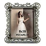PETAFLOP Grand Cadre Photo 20x25 cm Métal avec Cristal sur Cadre Metallique Style Moderne et Vintage...