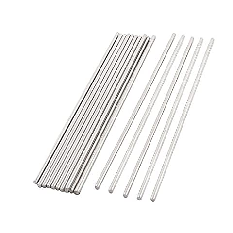 15PCS 250mmx2.5mm Stainless Steel Straight Axles Shaft Rod for DIY Toy