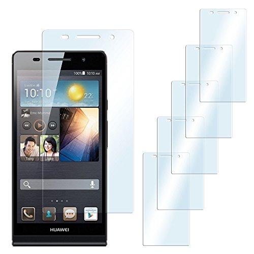 5x Huawei P6 Schutzfolie Klar Display Schutz [Crystal-Clear] Screen protector Bildschirm Handy-Folie Dünn Displayschutz-Folie für Huawei Ascend P6 Displayfolie (Huawei P6 Touch Bildschirm)