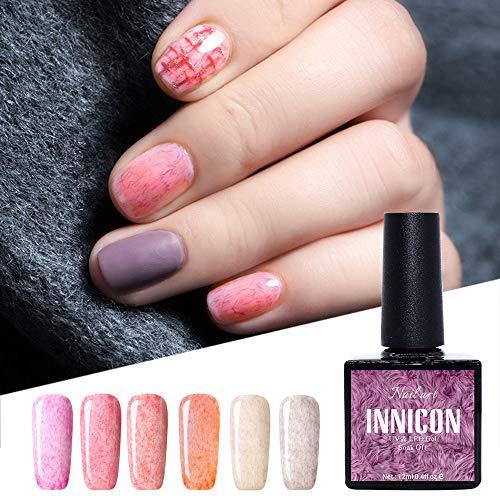 Innicon 6 piezas 1 Set UV LED Fur Gel Polish Kits